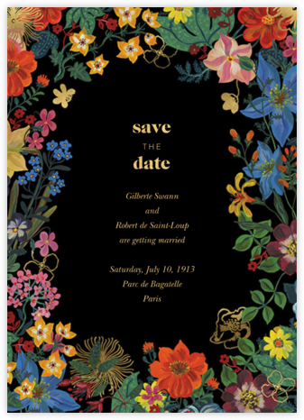 En Fleurs - Black - Nathalie Lété - Save the dates