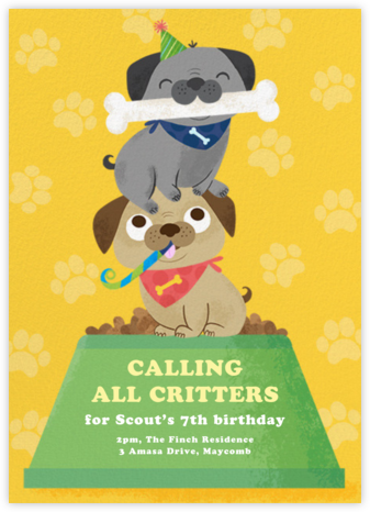 Let's Pawty - Paperless Post - Online Kids' Birthday Invitations
