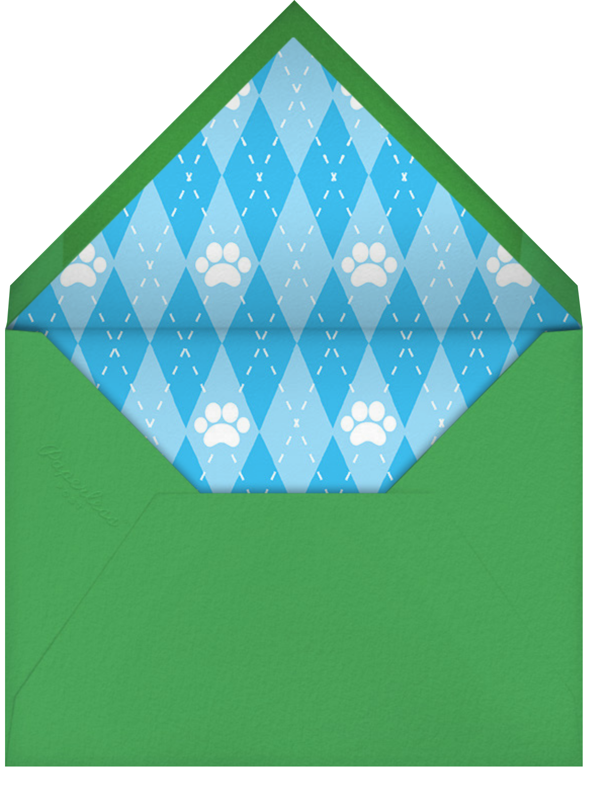 Let's Pawty - Paperless Post - Kids' birthday - envelope back