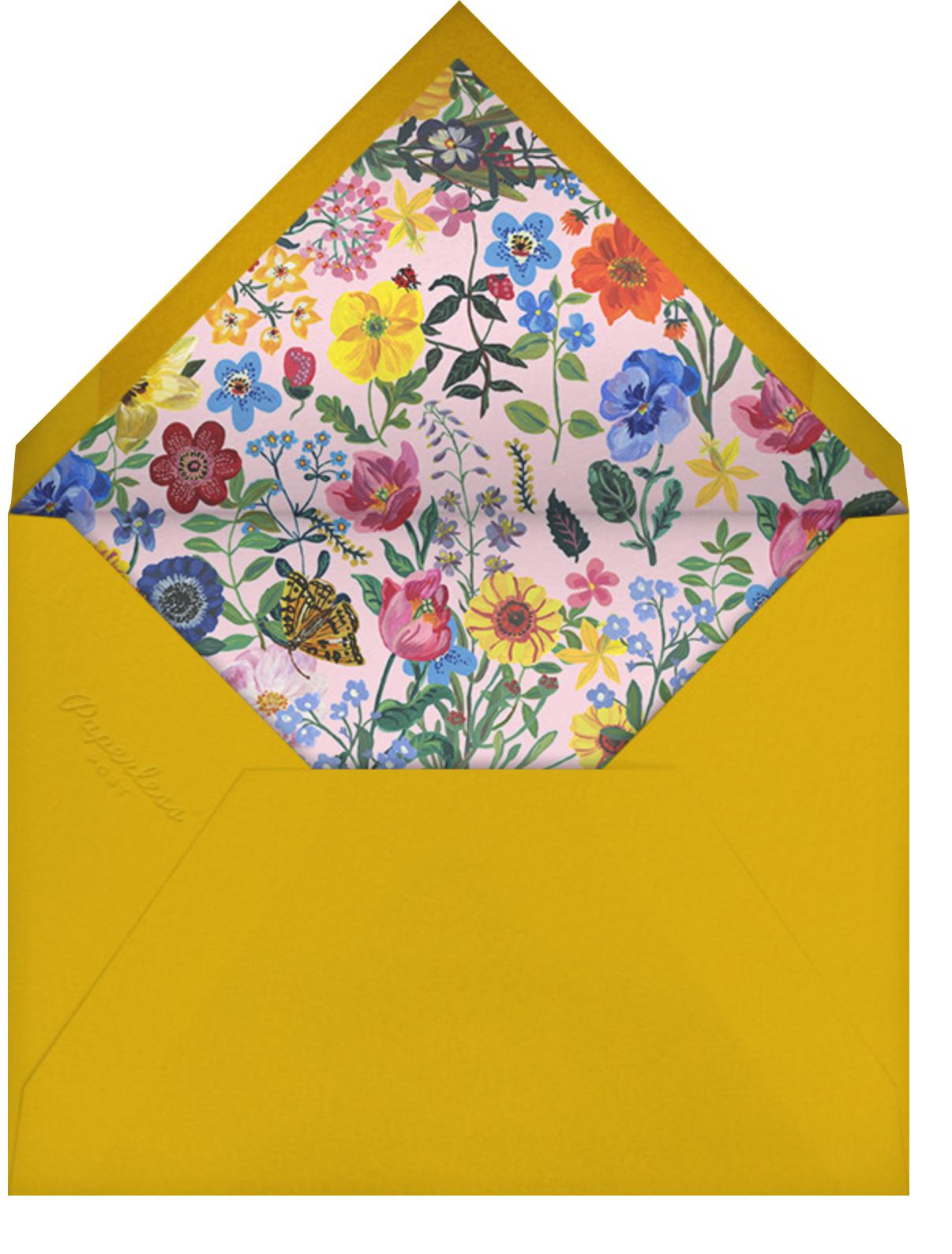Jardin de Rêves - White - Nathalie Lété - Bridal shower - envelope back