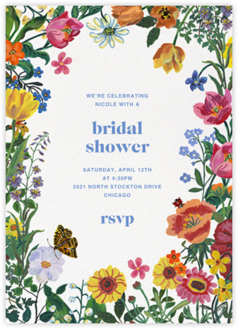 Jardin de Rêves - White - Nathalie Lété - Bridal shower invitations