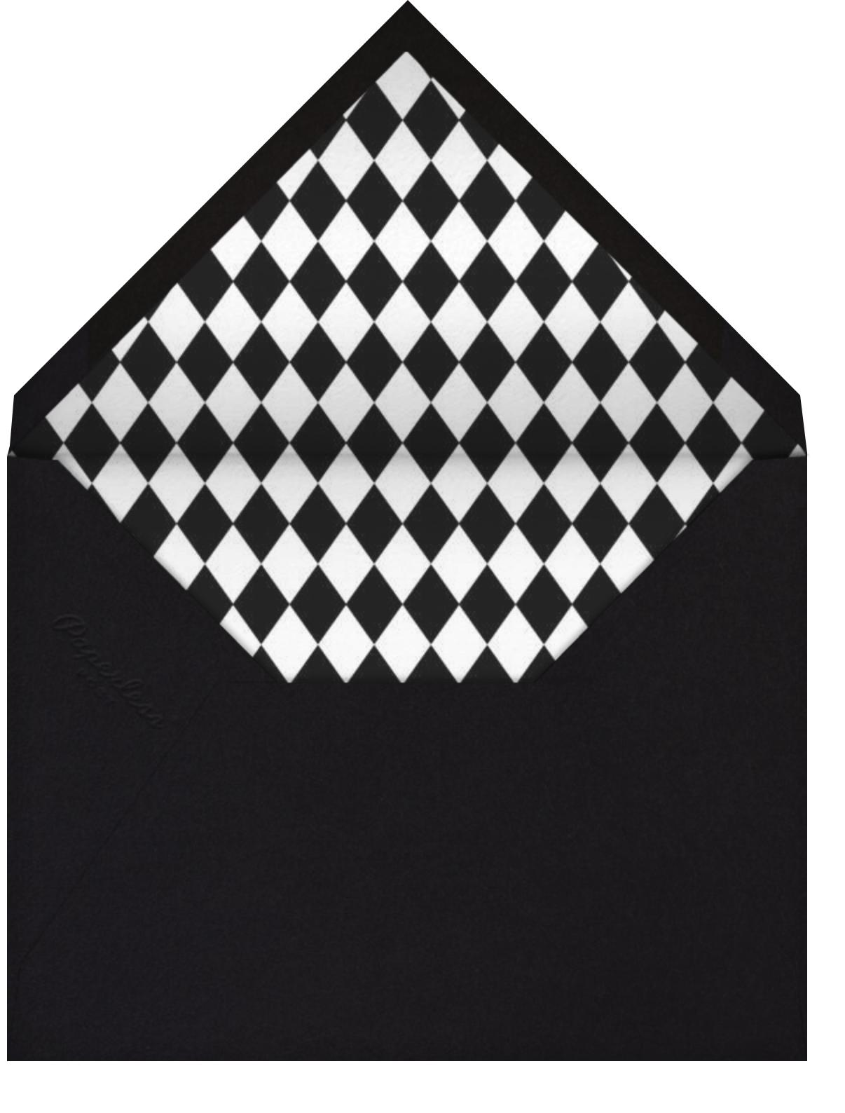 Harlequin Mask - Black - Paperless Post - Envelope