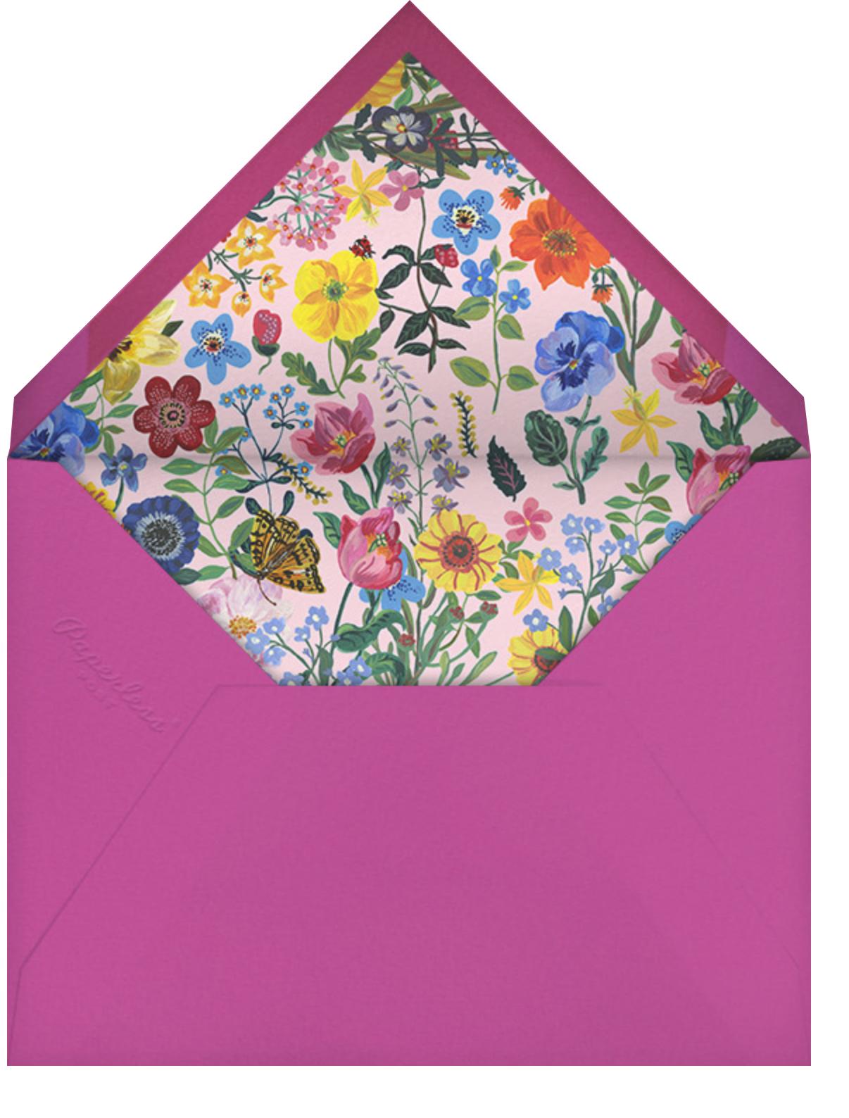 Printemps - Nathalie Lété - Woodland baby shower invitations - envelope back