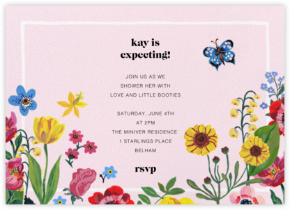 Champ de Fleurs - Nathalie Lété  - Baby shower invitations