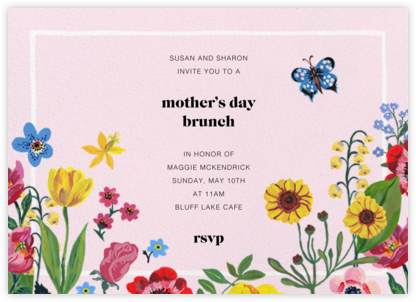 Champ de Fleurs - Nathalie Lété - Online Mother's Day invitations
