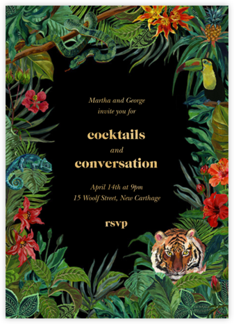 Le Tigre - Black - Nathalie Lété - Invitations for Entertaining
