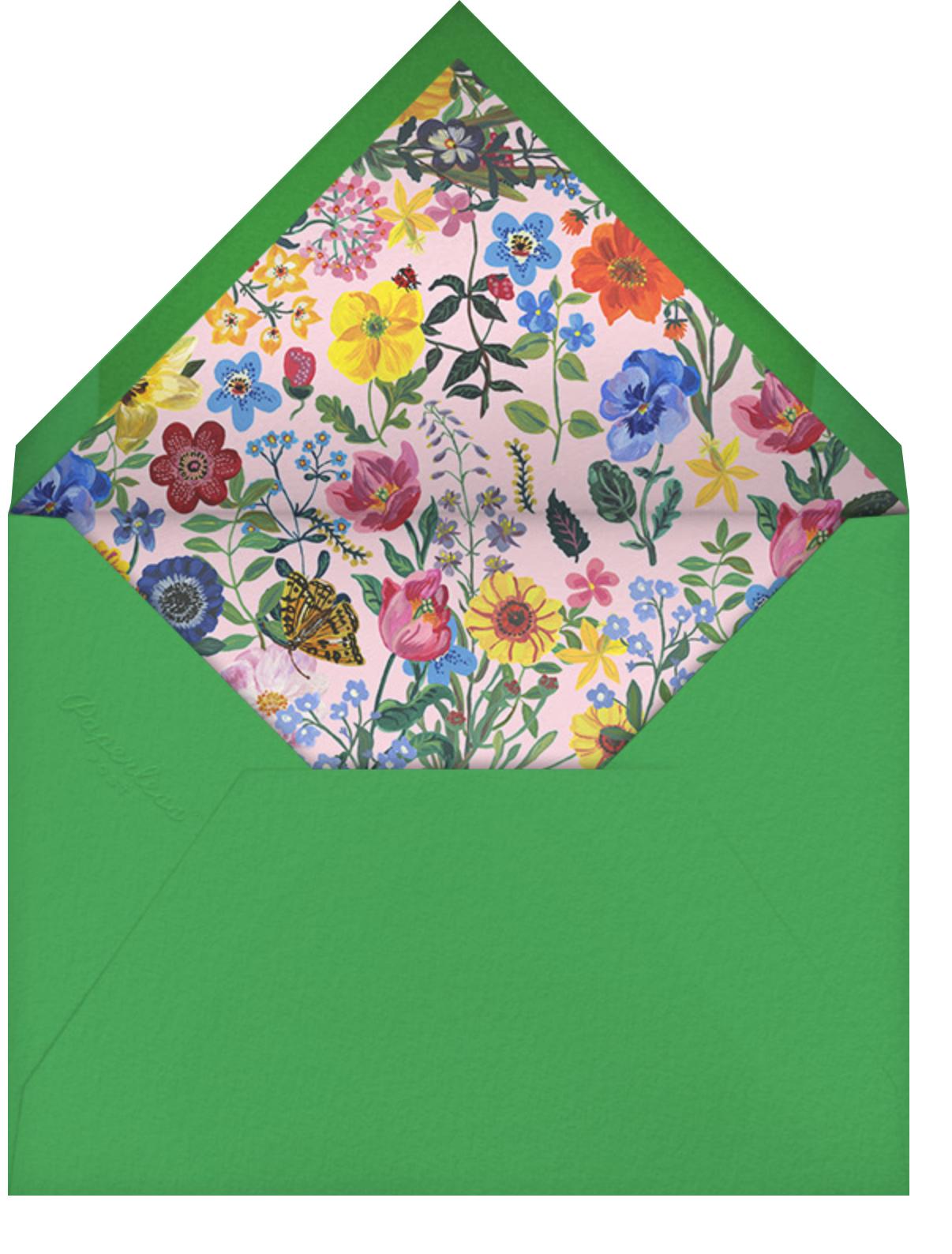 Le Chat (Tall) - Capri - Nathalie Lété - Kids' birthday - envelope back