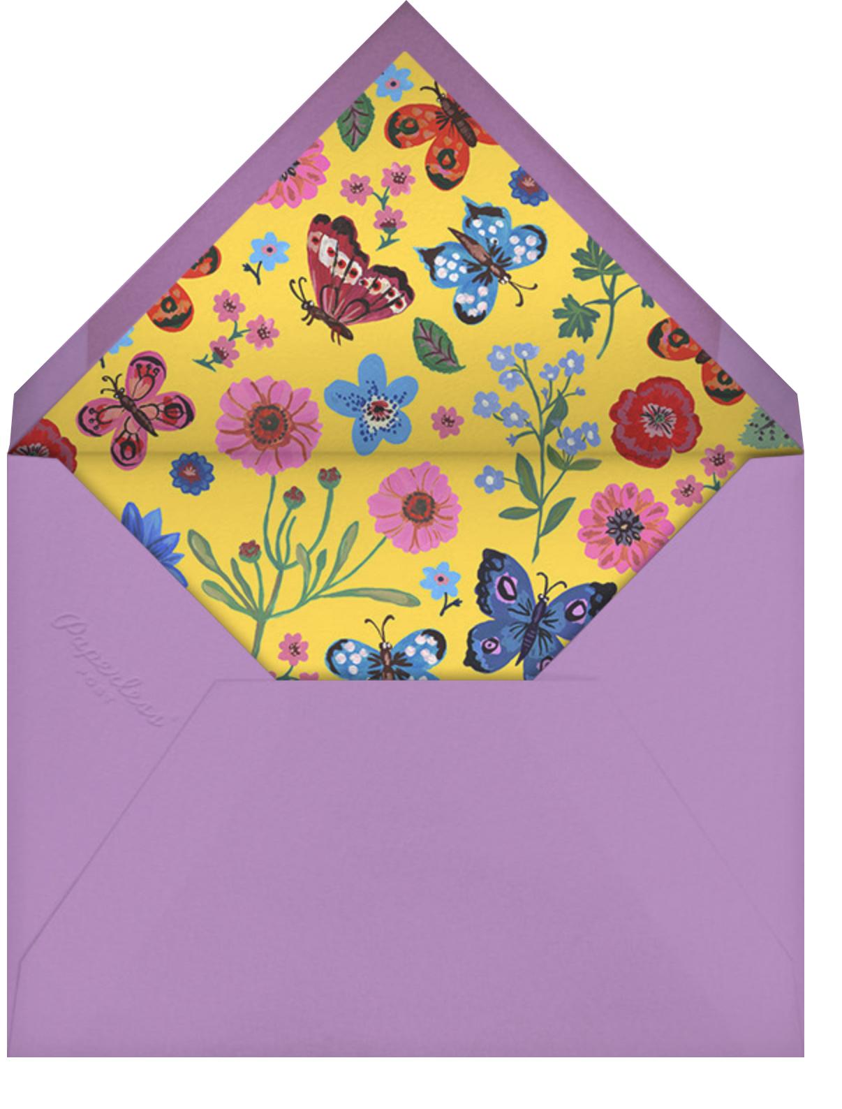 Papillons Dansants - Carnation - Nathalie Lété - Thank you - envelope back
