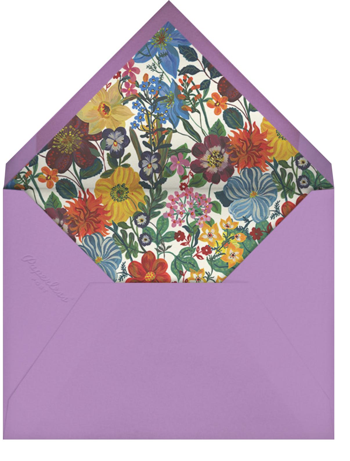 La Roseraie - White - Nathalie Lété - Thank you - envelope back