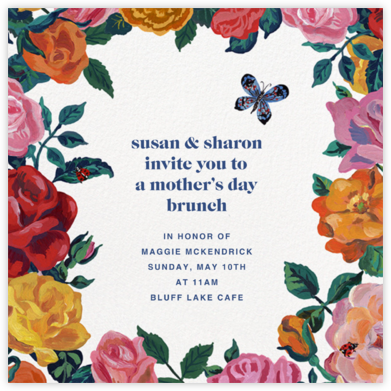 La Roseraie - White - Nathalie Lété - Online Mother's Day invitations
