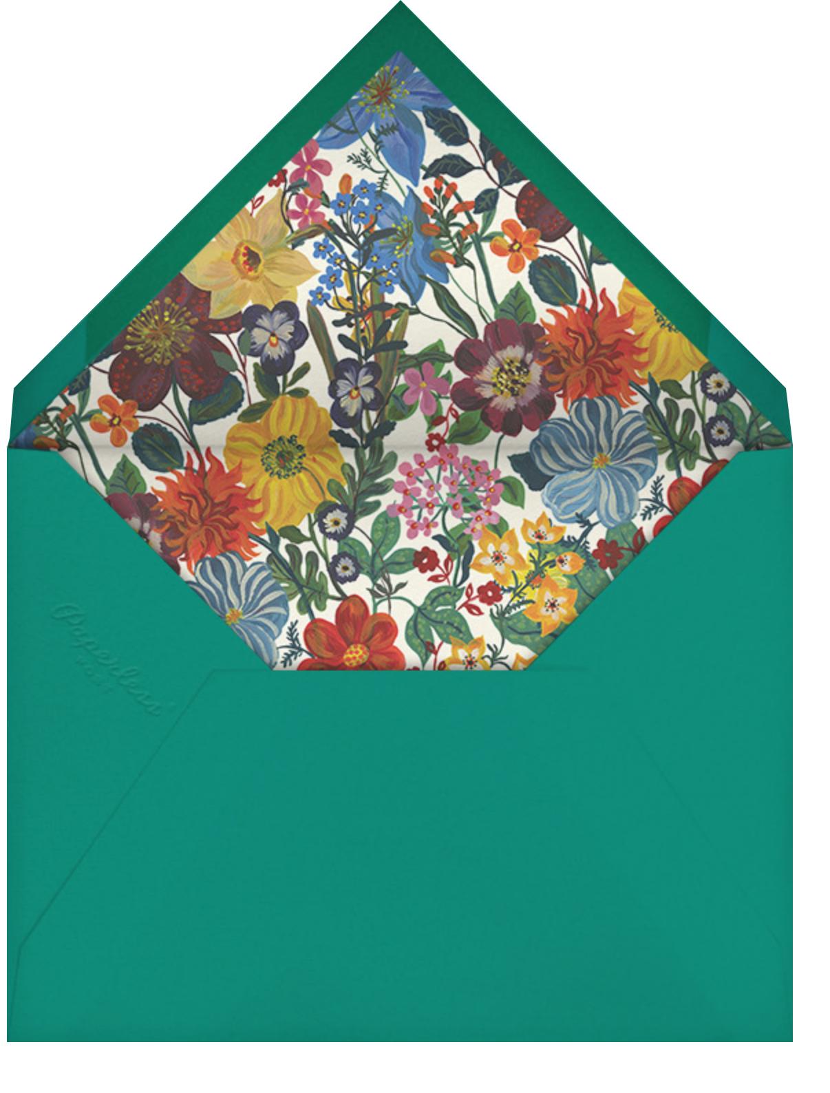 La Roseraie - Crimson - Nathalie Lété - Mother's Day - envelope back
