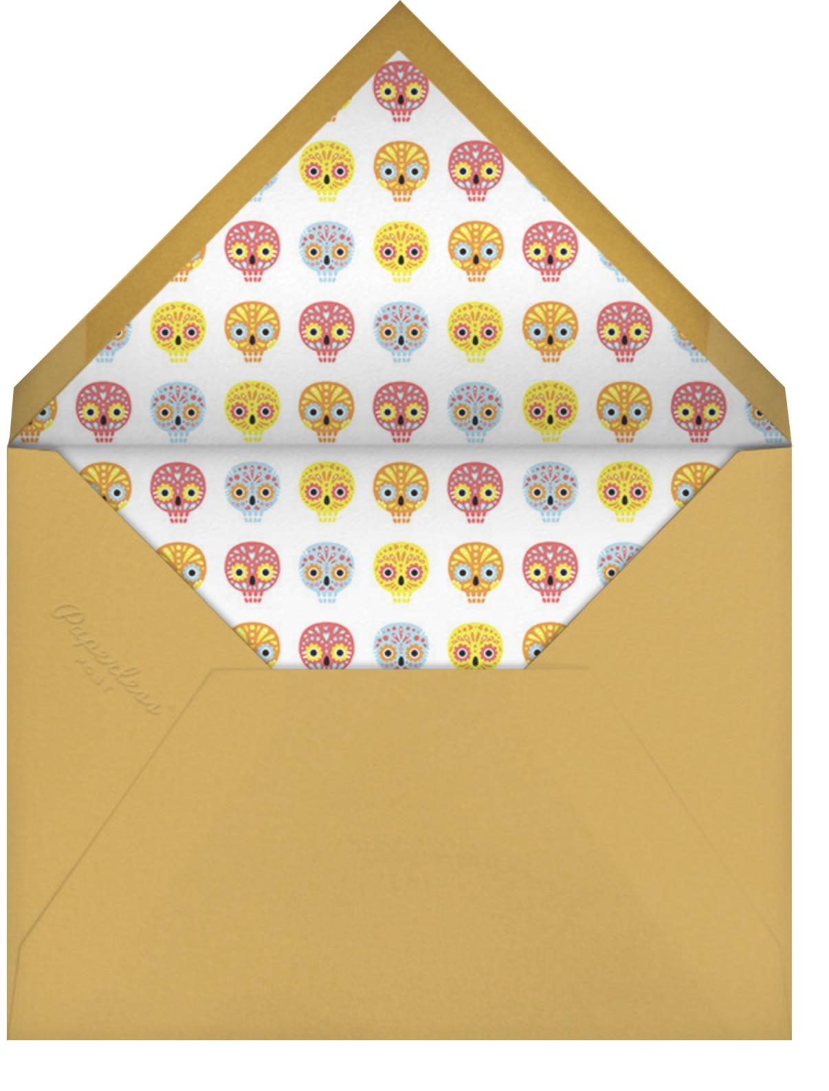 Little Sugar Skulls - Paperless Post - Kids' Halloween invitations - envelope back