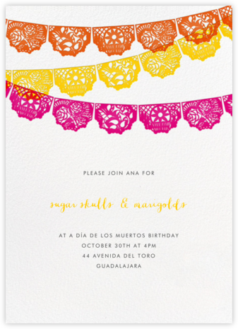 Tulum - Multi - Paperless Post - Día de los Muertos invitations