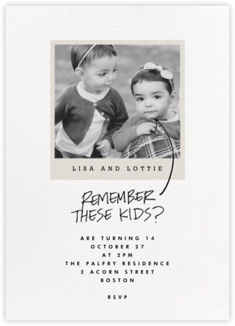 Most Likely To - These - Paperless Post - Kids' birthday invitations