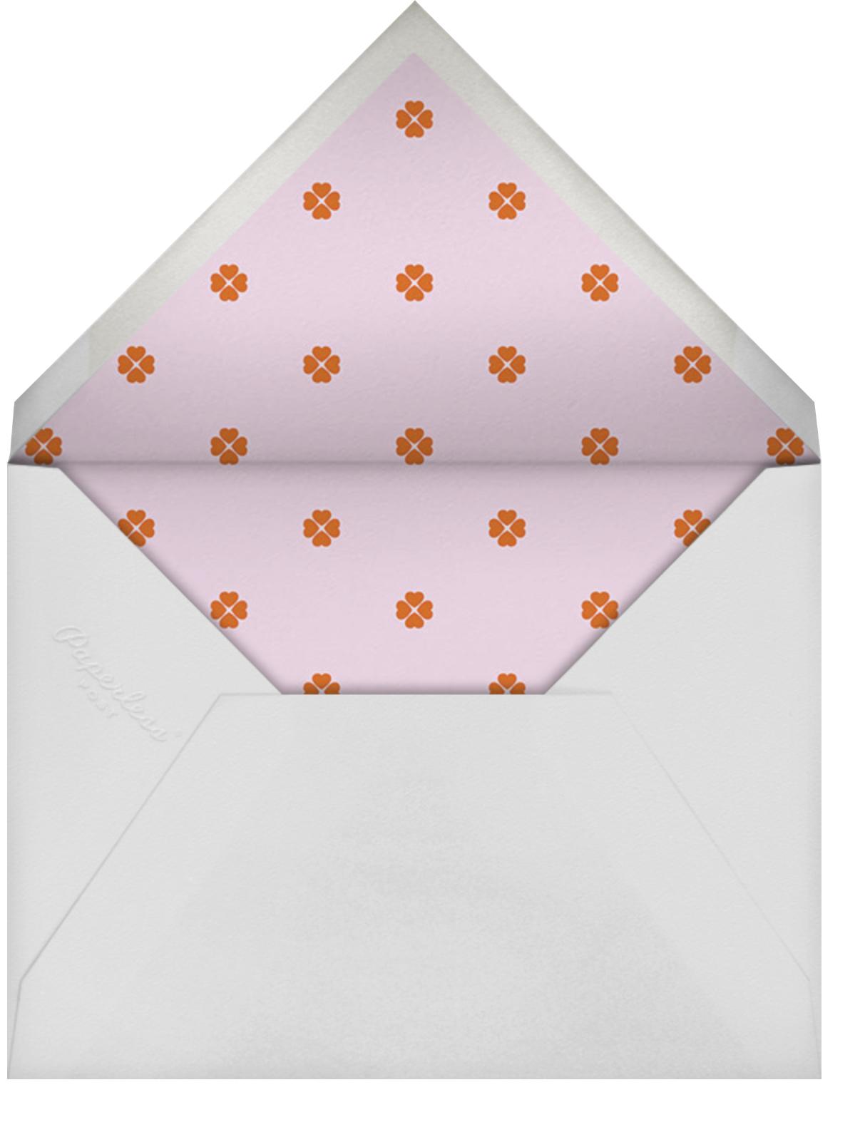 Colorblocked Stripes - Hydrangea/Longhorn - kate spade new york - Save the date - envelope back