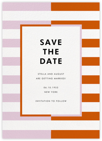 Colorblocked Stripes - Hydrangea/Longhorn - kate spade new york - Save the dates