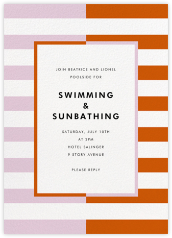 Colorblocked Stripes - Hydrangea/Longhorn - kate spade new york - Summer entertaining invitations