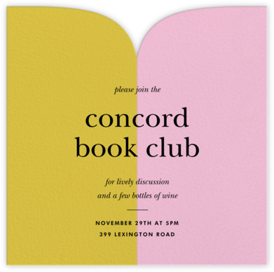 Two Halves - Paella/Pavlova - kate spade new york - Book club invitations
