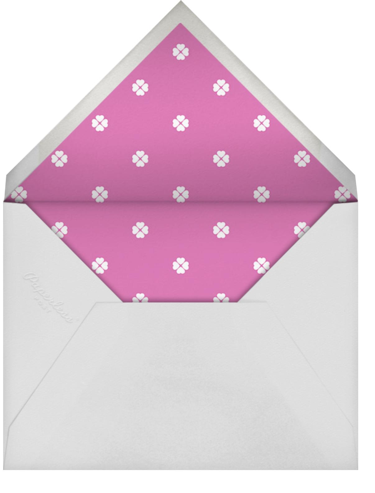 Colorblocked Stripes - Carnation/Heath - kate spade new york - Bachelorette party - envelope back