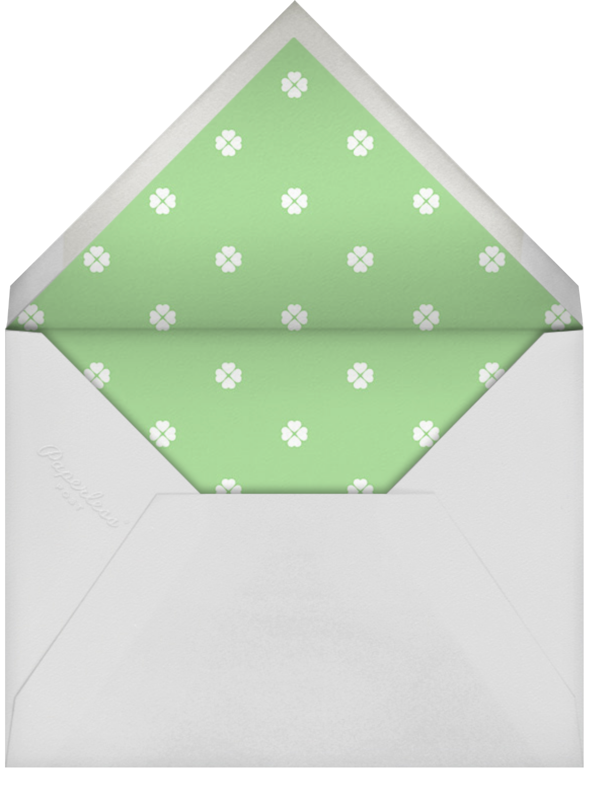 Colorblocked Stripes - Lemon Drop/Meadow - kate spade new york - Save the date - envelope back