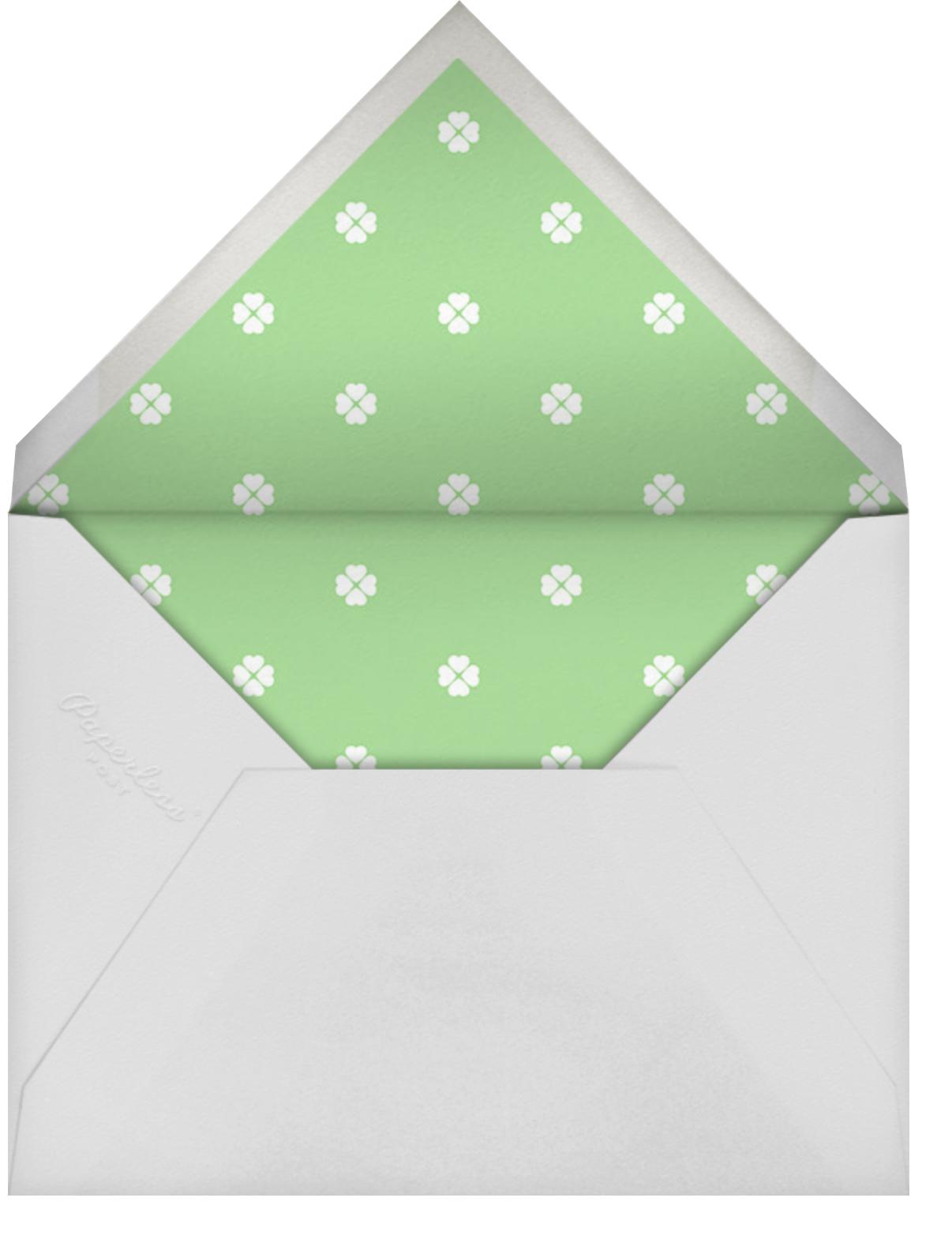 Colorblocked Stripes - Lemon Drop/Meadow - kate spade new york - Adult birthday - envelope back
