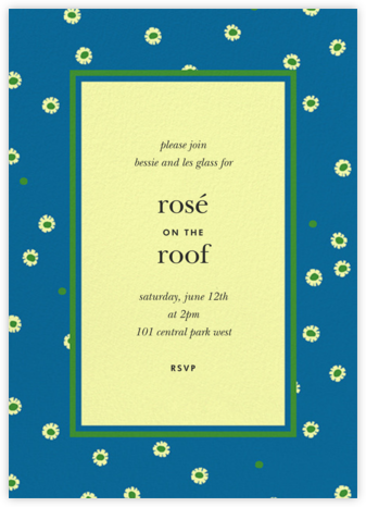 Daisy Days - Blue - kate spade new york - Summer entertaining invitations
