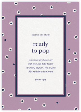 Daisy Days - Wisteria - kate spade new york - Baby Shower Invitations