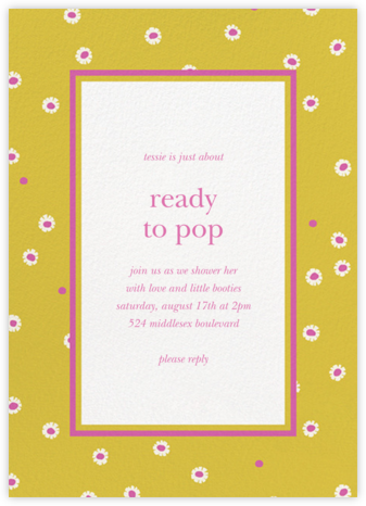 Daisy Days - Paella - kate spade new york - Baby Shower Invitations