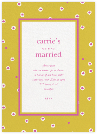 Daisy Days - Paella - kate spade new york - Bridal shower invitations