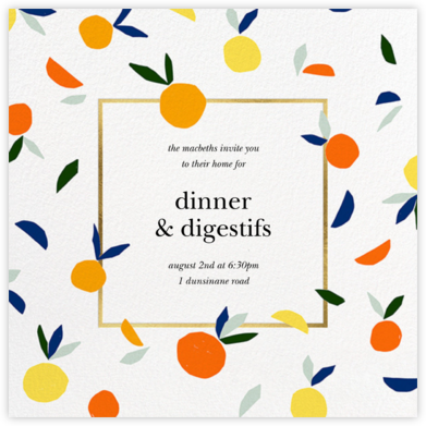 Citrus Twist - kate spade new york - Dinner Party Invitations