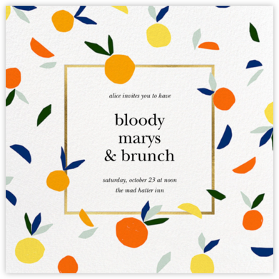 Citrus Twist - kate spade new york - Brunch invitations