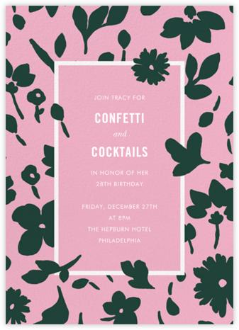 Floral Splash - Carnation - kate spade new york - Adult Birthday Invitations