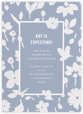 Floral Splash - Pacific - kate spade new york - Baby Shower Invitations