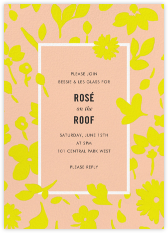 Floral Splash - Sherbet - kate spade new york - Summer entertaining invitations