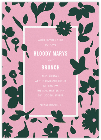 Floral Splash - Carnation - kate spade new york - Brunch invitations