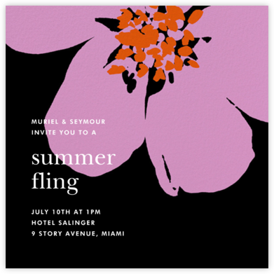 Grand Flora - Black - kate spade new york - Summer Party Invitations
