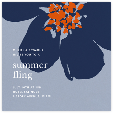 Grand Flora - Blue - kate spade new york - Summer Party Invitations
