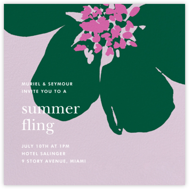 Grand Flora - Hydrangea - kate spade new york - Summer Party Invitations