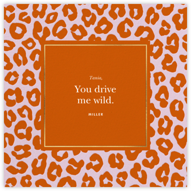 Leopard - Longhorn - kate spade new york - Valentine's Day Cards
