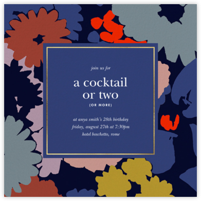 Swing Floral - kate spade new york - Adult Birthday Invitations