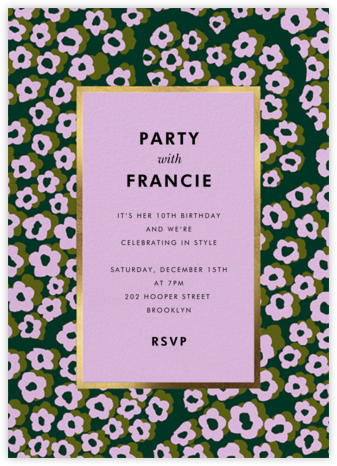 Wild Flora - Hydrangea - kate spade new york - Birthday invitations
