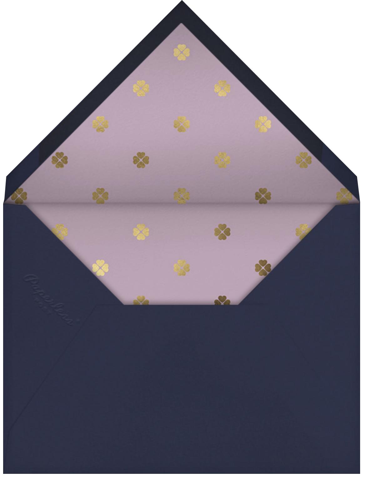 Wild Flora - Lilac - kate spade new york - Bridal shower - envelope back