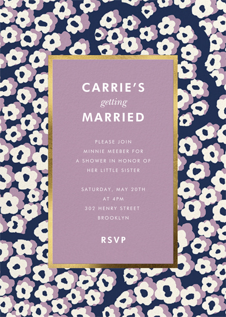 Wild Flora - Lilac - kate spade new york - Kate Spade invitations, save the dates, and cards