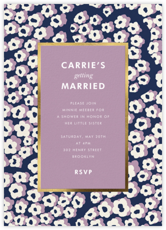Wild Flora - Lilac - kate spade new york - Bridal shower invitations