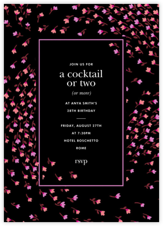 Meadow - Black - kate spade new york - Adult Birthday Invitations