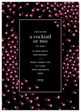 Meadow - Black - kate spade new york - Adult Birthday Invitations