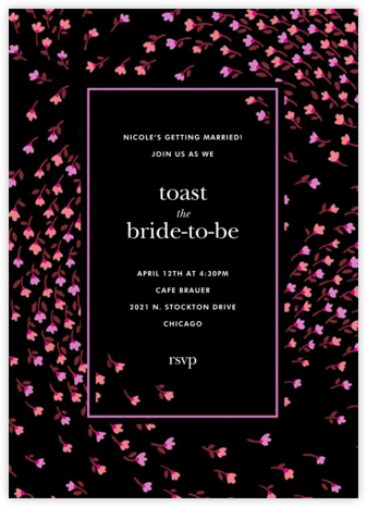 Meadow - Black - kate spade new york - Bridal shower invitations