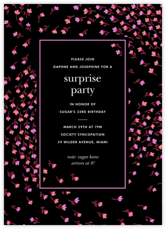 Meadow - Black - kate spade new york - Surprise Party Invitations