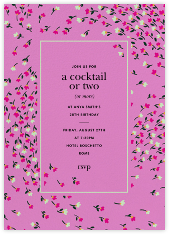 Meadow - Heath - kate spade new york - Adult Birthday Invitations