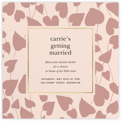 Climbing Hearts - Meringue - kate spade new york - Bridal shower invitations